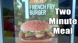 Burger King Fry Burger Combo Meal Review (Two Minute Meal Ep 2)