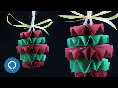 Easy DIY Paper Christmas Ornaments- Christmas Tree Baubles