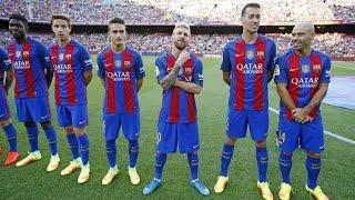 La presentación de la plantilla del FC Barcelona 2016/17