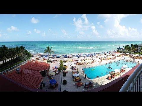 Marco Polo Beach Resort Hotel swimming pool areas Sunny Isles Beach Miami  YouTube