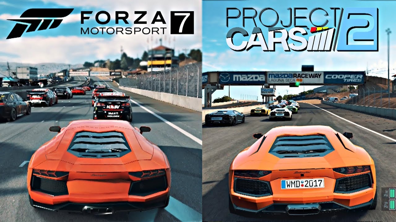 forza 7 vs project cars 2 side by side gameplay comparison youtube. Black Bedroom Furniture Sets. Home Design Ideas
