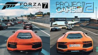 FORZA 7 vs PROJECT CARS 2 | Side by Side Gameplay Comparison!