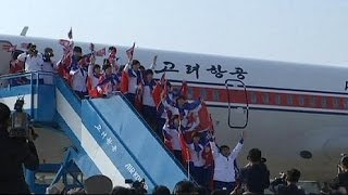 North Korea: crowds greet athletes returning from Asian Games - no comment
