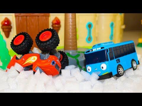 Мультики про машинки Вспыш и чудо машинки Снежные Гонки Тайо маленький автобус Мультфильмы для детей