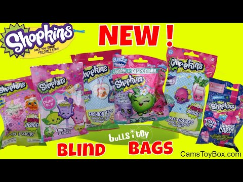 Blind Bags Opening Shopkins Light Ups Pin Pack Surprises Toys Fashion Tags Erasers Bulls I Toy