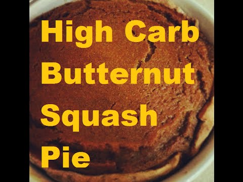 High Carb Vegan No Oil Butternut Squash 'Pumpkin' Pie - YouTube