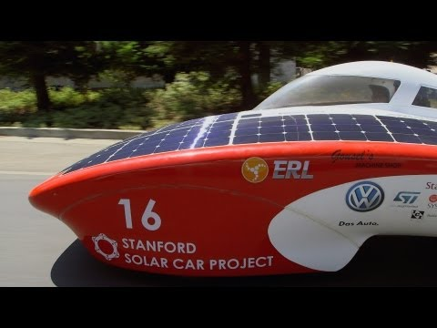 Stanford students build state-of-the-art solar racecar
