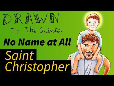 Drawn to the Saints -  Saint Christopher