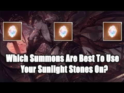Which Summons Are Best To Use Your Sunlight Stones On? Tier 1