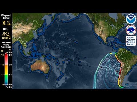 Tsunami Forecast Model Animation: Chile 2010