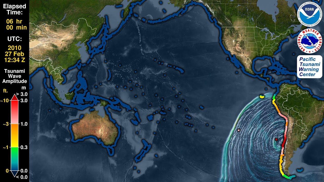 Tsunami Forecast Model Animation: Chile 2010