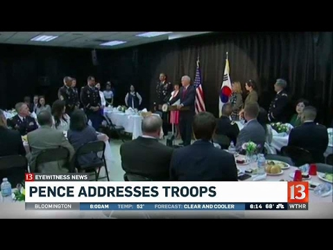 Thumbnail: Pence visits troops in S. Korea