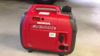 Honda EU2000i Generator/Inverter - Unboxing and running Travel Trailer AC
