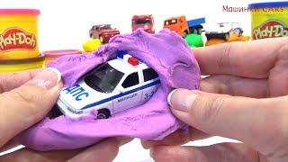 Машинки Cars play doh про машинки полиция скорая помощь play doh video for kids toy kids learn color