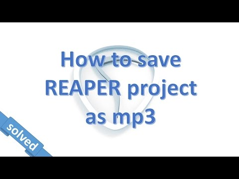 LAME for REAPER. Make a mp3 from REAPER DAW.