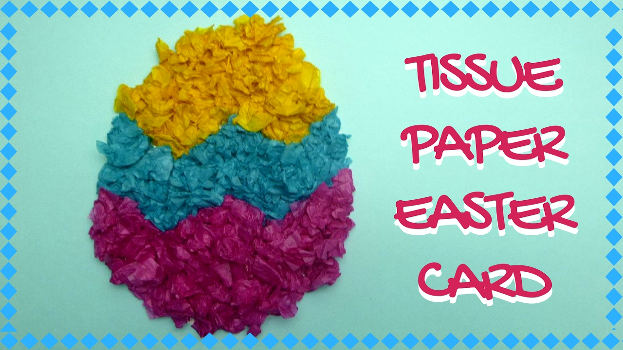 tissue paper crafts ideas easter crafts tissue paper easter card 5588