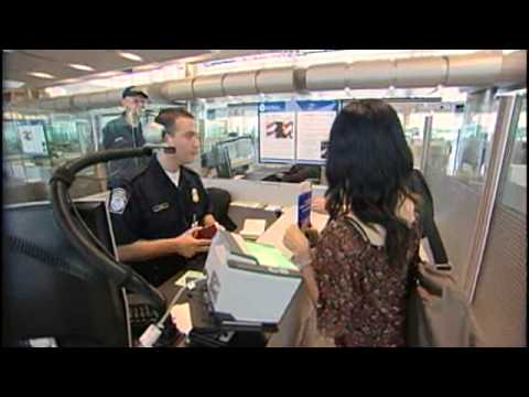Customs Border Patrol At Houston Airport in Hurricane