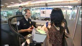 Customs Border Patrol At Houston Airport in Hurricane