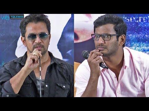 Arjun emotional speech about vishal -  Irumbu Thirai success meet