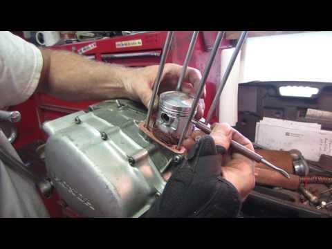 honda sl 125 engine rebuild, top end