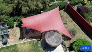 Shade Sail Process In About a Minute (The Short-Short Version)