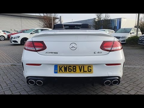 Mercedes-AMG C43 4Matic Premium Plus Cabriolet (With V6 Engine Revs) - KW68VLG