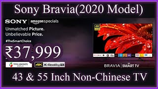 Sony Bravia 55 amp 43 Inches 4K Ultra HD Smart LED TV 2020 Model Overview Starting at 37 999