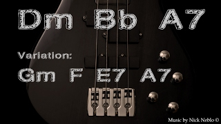 Funky Blues Guitar Backing Track D minor