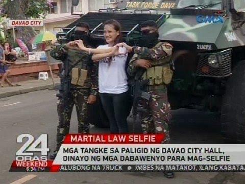 Mga tangke sa paligid ng Davao City Hall, dinayo ng mga Dabawenyo para mag-selfie
