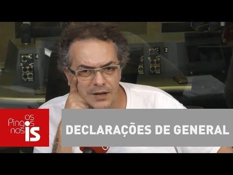 Tognolli: Alvaro Dias Diz Que Declarações De General Devem Ser Vistas Como Alerta