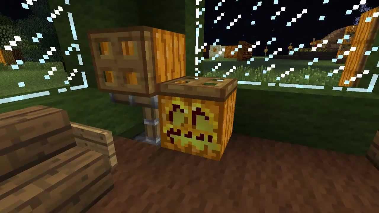 Minecraft ideen zu k rbis und jack o lantern teil 3 4 - Minecraft dekoration ...