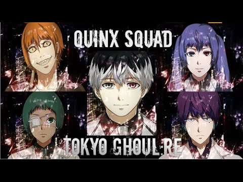 quinx squad members in tokyo ghoul season 3 - youtube