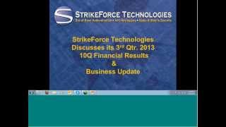 StrikeForce Technologies 3rd Qtr 2013 Report
