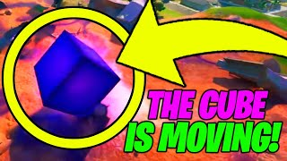 The CUBE is MOVING RIGHT NOW!! (Fortnite Season 8 Cube Event)