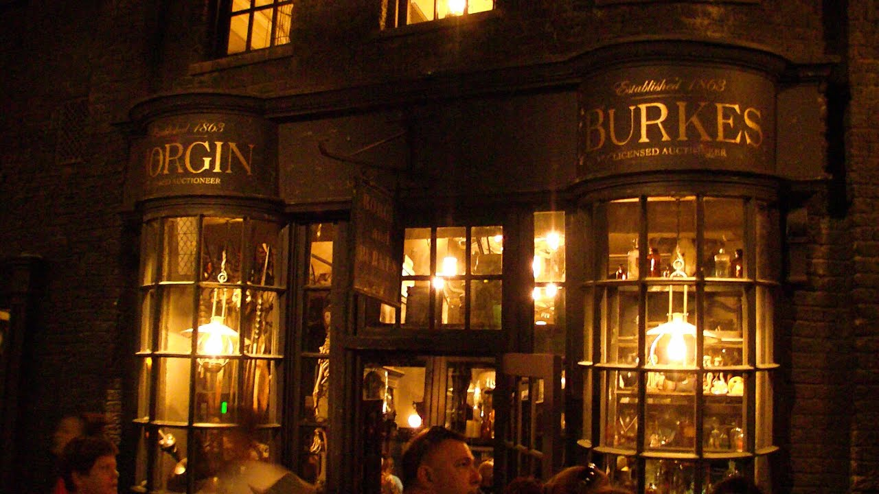 borgin burkes shop in diagon alley at universal studios florida youtube. Black Bedroom Furniture Sets. Home Design Ideas