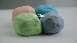 Play Doh 3 ingredients No cook and WITHOUT Cream of Tartar