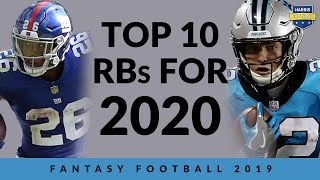 2020 Top 10 Fantasy Football Running Backs