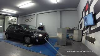 VW Golf 6 1.6 tdi 105cv Reprogrammation Moteur @ 149cv Digiservices Paris 77 Dyno