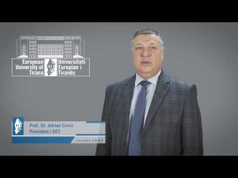 President i UET. Prof. Dr Adrian Civici