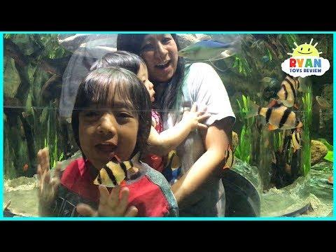 Ryan inside Aquarium with Fish!!!
