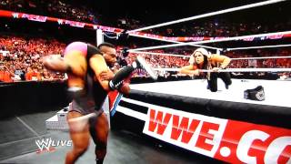 Kaitlyn Waredrobe Malfunction WWE Raw 06-17-2013