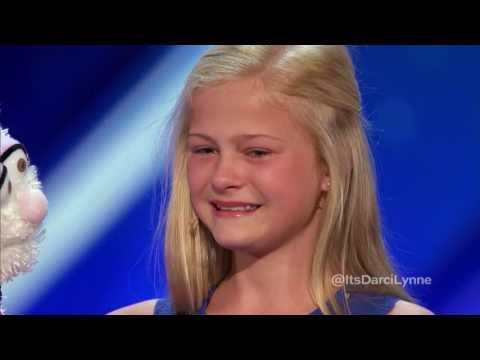 Darci Lynne  12 Year Old Singing Ventriloquist Gets Golden Buzzer   Americas Got Talent 2017