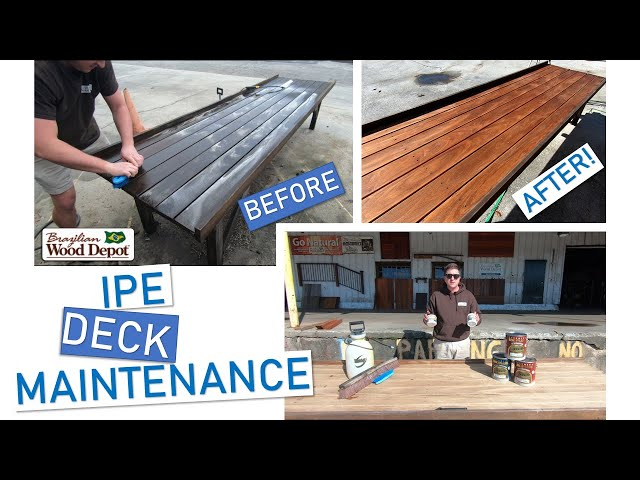 UPDATED Ipe Deck Maintenance (FULL Cleaning and Oiling)