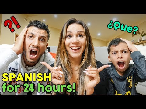 SPEAKING ONLY SPANISH TO MY FAMILY FOR 24 HOURS CHALLENGE! **NO HABLA ESPANOL** | The Royalty Family