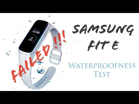 Samsung Fit E - Waterproofness Test (Real Life)