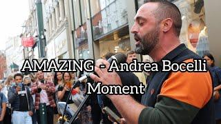 AMAZING MOMENT guy sings PERFECT in Italian like Andrea Bocelli - Ed Sheeran | Allie Sherlock cover