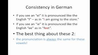 pronunciation of ei and ie in german introduction