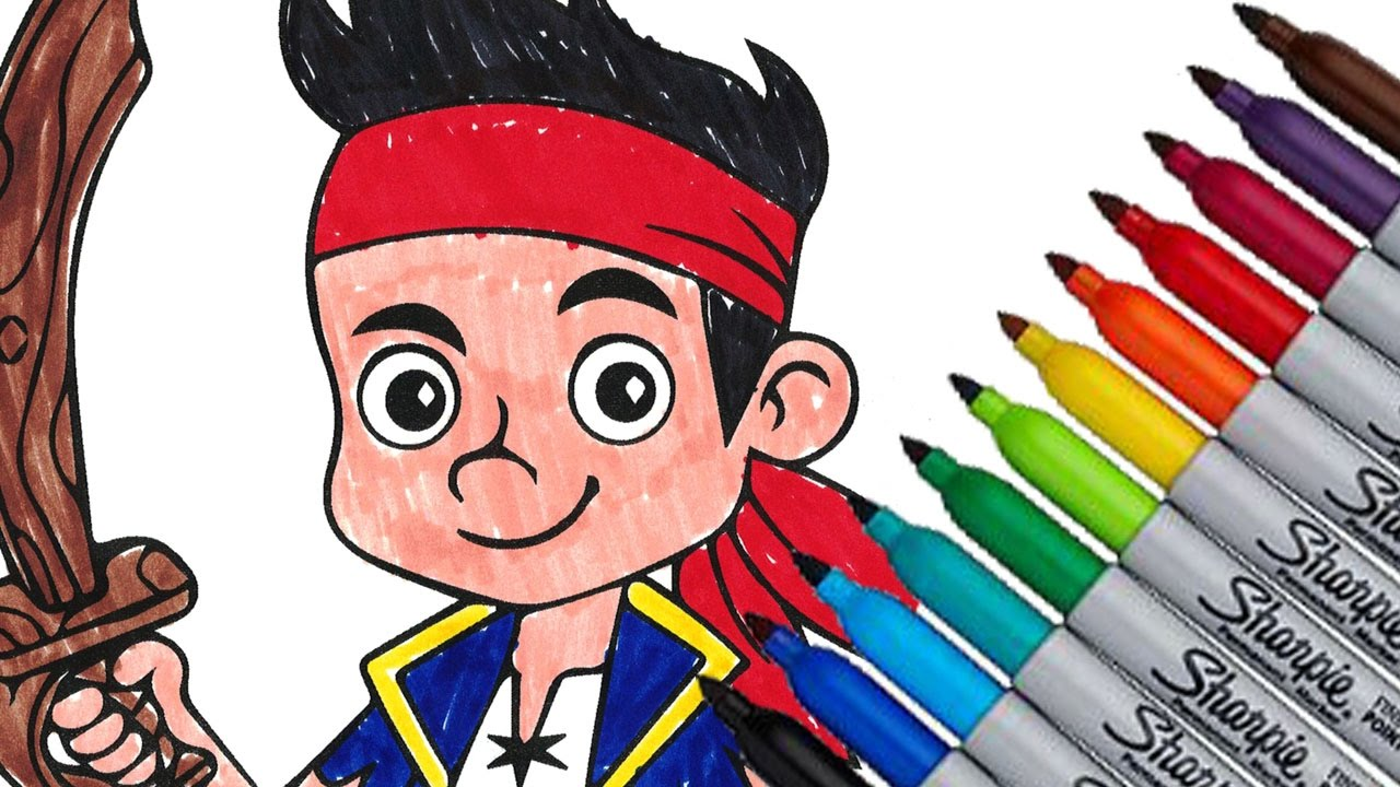 jake and the never land pirates coloring page new 2016 video youtube