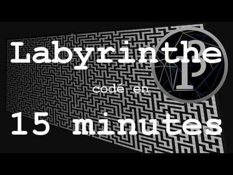 Coder un Générateur de Labyrinthe en 15 minutes - Défi 3 - Processing (Java)