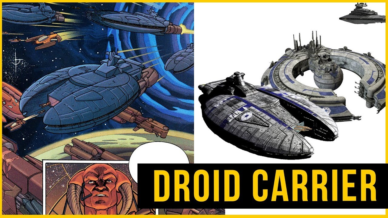 The TRADE FEDERATION Droid CARRIER Full of Jedi Interceptors | Star Wars  Ships
